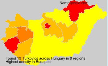 Surname Turkovics in Hungary