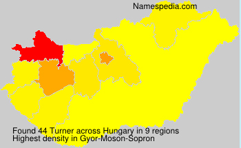 Surname Turner in Hungary