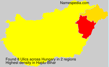 Surname Ulics in Hungary