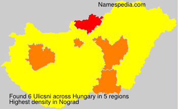 Surname Ulicsni in Hungary