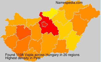 Surname Vajda in Hungary