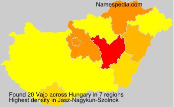 Familiennamen Vajo - Hungary