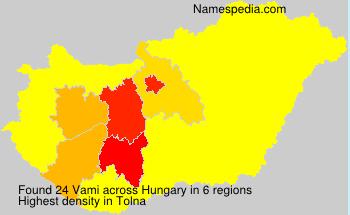 Familiennamen Vami - Hungary