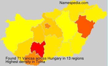 Surname Vancsa in Hungary