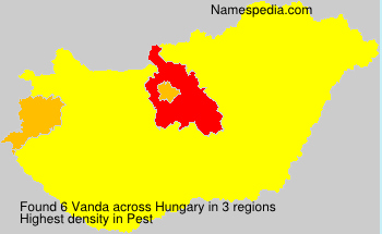 Surname Vanda in Hungary