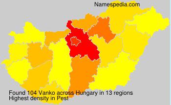 Surname Vanko in Hungary