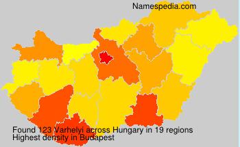 Surname Varhelyi in Hungary