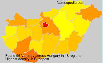 Familiennamen Varnagy - Hungary