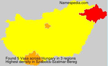 Surname Vasa in Hungary