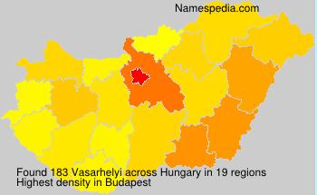 Surname Vasarhelyi in Hungary