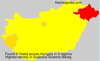 Surname Vaska in Hungary