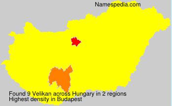 Surname Velikan in Hungary