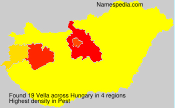 Surname Vella in Hungary