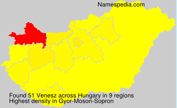 Surname Venesz in Hungary