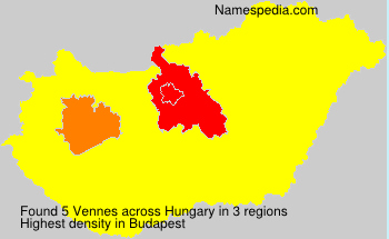 Surname Vennes in Hungary