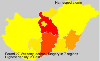 Surname Vezsenyi in Hungary