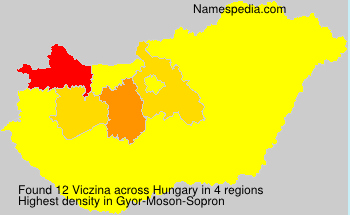 Surname Viczina in Hungary