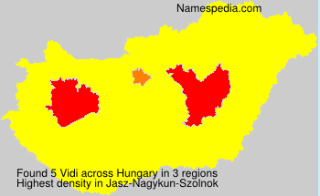 Surname Vidi in Hungary