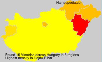 Surname Vietorisz in Hungary