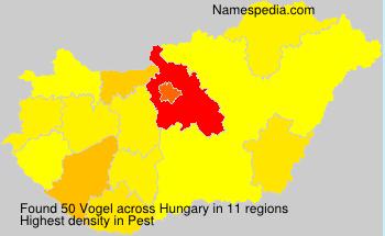 Familiennamen Vogel - Hungary