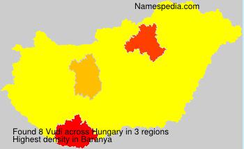 Surname Vudi in Hungary