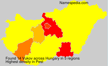 Surname Vukov in Hungary