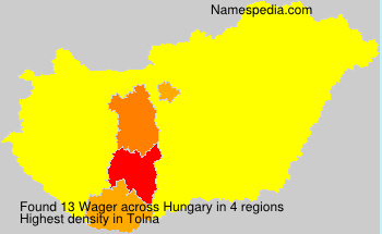 Familiennamen Wager - Hungary