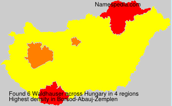 Familiennamen Waldhauser - Hungary