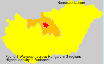 Surname Wambach in Hungary