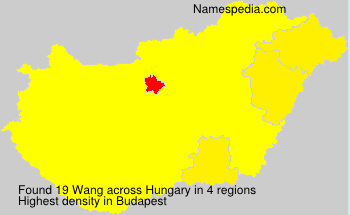 Familiennamen Wang - Hungary