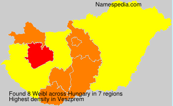 Surname Weibl in Hungary
