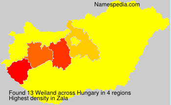Surname Weiland in Hungary