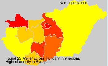 Surname Weller in Hungary