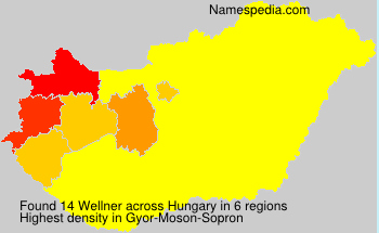 Surname Wellner in Hungary