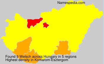 Familiennamen Welsch - Hungary