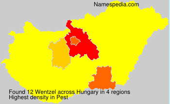 Surname Wentzel in Hungary