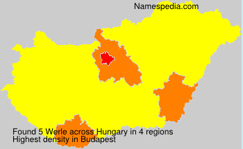 Surname Werle in Hungary
