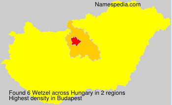 Surname Wetzel in Hungary