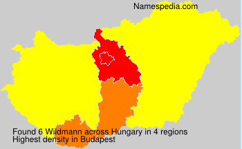 Surname Wildmann in Hungary