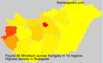 Surname Windisch in Hungary