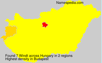 Surname Windt in Hungary