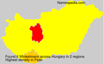 Surname Winkelmann in Hungary