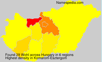 Surname Wohl in Hungary