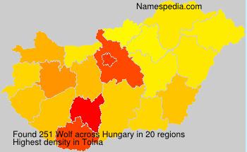 Familiennamen Wolf - Hungary
