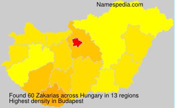 Familiennamen Zakarias - Hungary