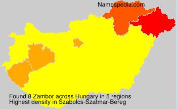 Familiennamen Zambor - Hungary