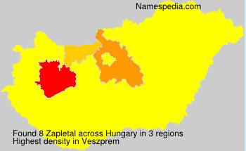 Surname Zapletal in Hungary