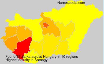 Surname Zarka in Hungary