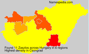 Surname Zaszlos in Hungary