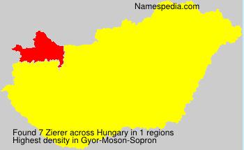 Familiennamen Zierer - Hungary